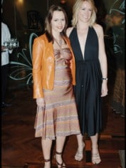 My 1999 orange leather jacket worn in 2005 when I was pregnant (with Leila McKinnon)