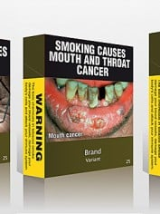 Ta da, the new cigarette packets.