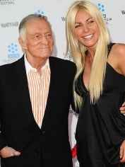 Hugh Hefner, 85, and his now ex-fiancee Crystal Harris, 25.