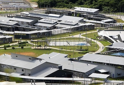 The detention centre at Christmas Island.