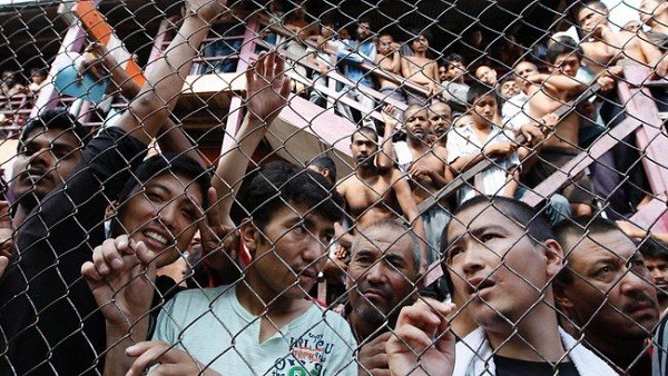 Asylum seekers held in Malaysia.