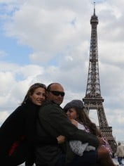 Carolyn and her family in Paris earlier this year.