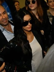 Kim Kardashian arriving at Sydney airport today