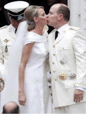 Princess Charlene and Prince Albert II on their wedding day