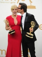 Guy Pearce and Kate Winslet at the 2011 Emmy Awards