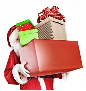 santa with gifts