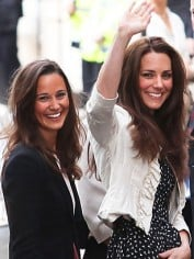 Catherine and Pippa Middleton