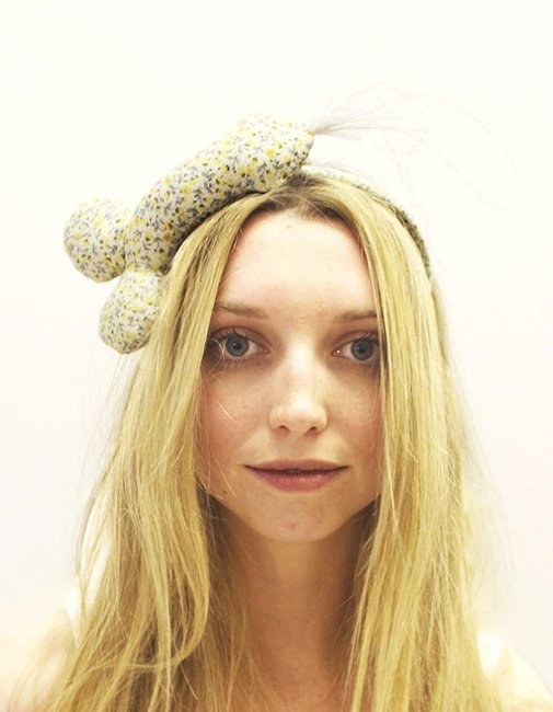 The Lemon Floral Penis Headband by lunaonthemoon