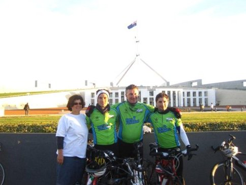 An image from the 2011 bike ride
