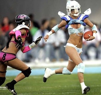 Players in the lingerie football league