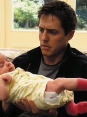 Hugh Grant and his baby