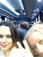 Mia and Paula Joye on the way to see Gaga