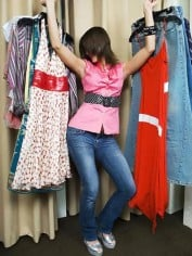 fitting room shopping