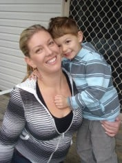 Jacqui with her son