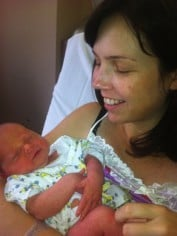Bec Sparrow with her son Fin