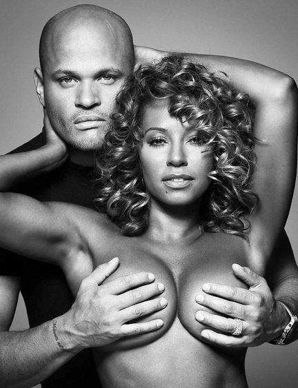 Mel B with her husband for Cosmopolitan