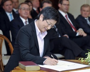 Senator Penny Wong at the swearing in ceremony for the 43rd Parliament.