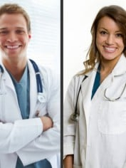 male female doctor