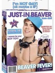 Justin Bieber's sex doll - from Pipedream, the same charming people who brought you the Miley Cyrus doll
