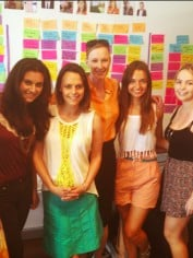 Leigh with the Mamamia editorial team + some of our fabulous interns.