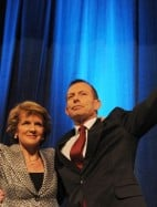 Julie Bishop and Tony Abbott. Does Bishop have her eye on the top job?