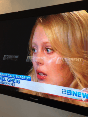 2Day FM host Meg Greig during an interview with A Current Affair, which will air later tonight.