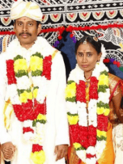 Ranjini with her new husband Ganesh