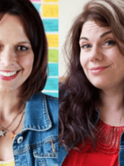 Mia (left) and Caitlin Moran