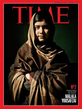 Malala on the cover of Time.