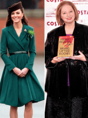 Hilary Mantel and Kate Middleton
