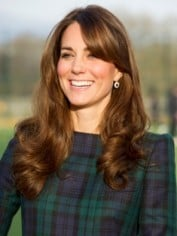 Kate Middleton in checks
