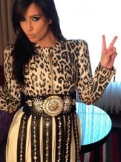 kim im animal print and leather