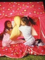 tent pillow fight