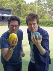 The Chaser Boys, Chris Taylor and Andrew Hansen, have challenged each other to obstacle lawn bowls.