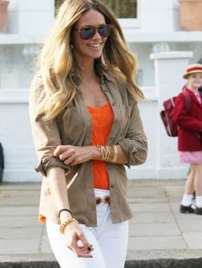 Elle Macpherson at the school gate