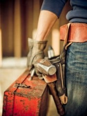 Don't let the toolbox fool you, a tradie partner won't have time for YOUR jobs, let alone anyone else's...