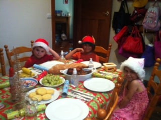 Jo Abi's kids enjoying Christmas lunch!