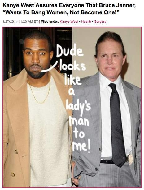 Perez Kanye Is Bruce Jenner transitioning to become a woman?