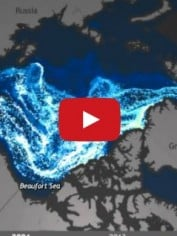 arctic ice melting video