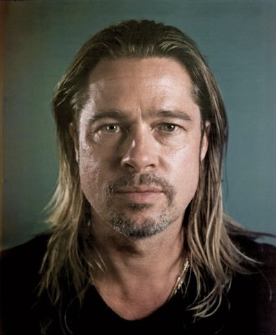 brad pitt Hollywood stars without makeup. Beautiful.