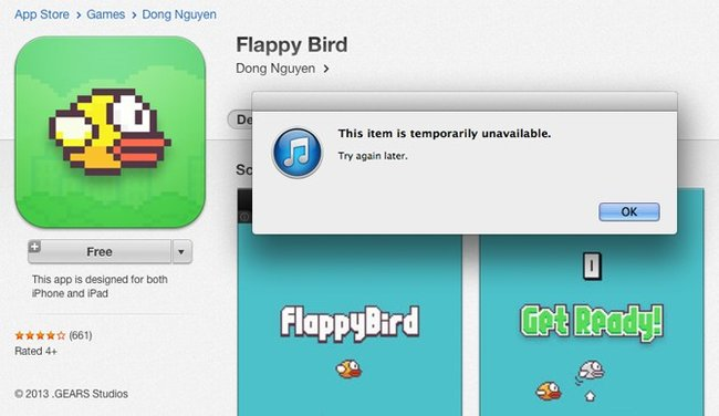 flappy bird gone In Memoriam: The life and death of Flappy Bird.