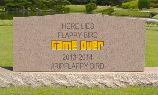 flappy bird headstone In Memoriam: The life and death of Flappy Bird.