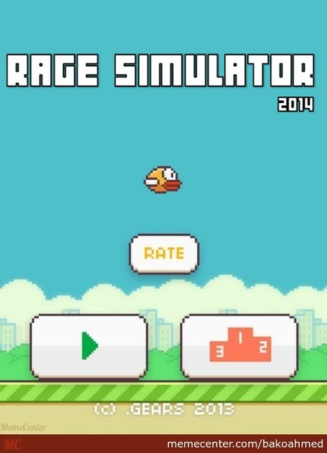 flappy bird rage simulator In Memoriam: The life and death of Flappy Bird.