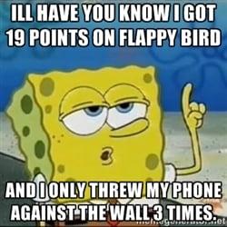 flappy bird sponge bob In Memoriam: The life and death of Flappy Bird.