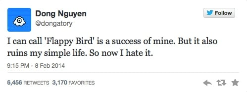 flappy bird tweet In Memoriam: The life and death of Flappy Bird.