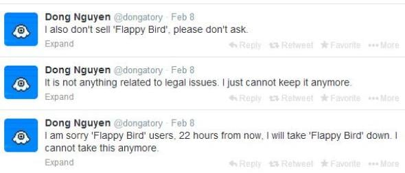 flappy bird tweets In Memoriam: The life and death of Flappy Bird.
