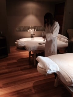 In the treatment room at Spa Anise