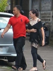 Schapelle Corby on her way to a parole meeting.