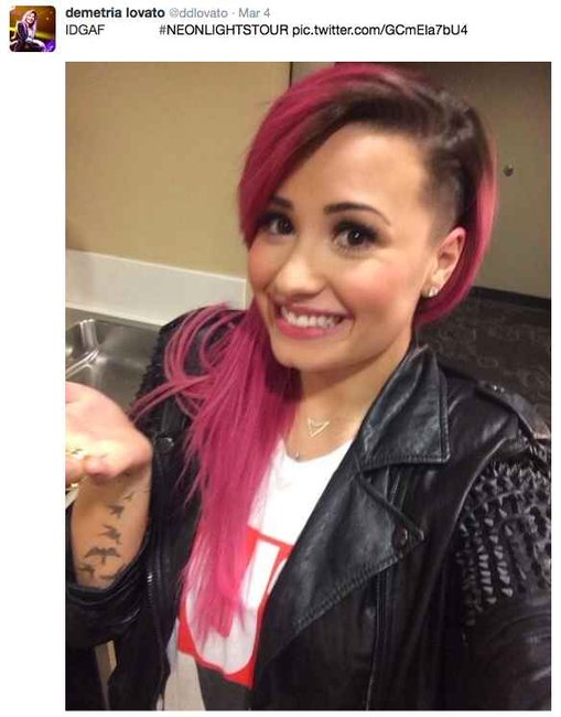 hair shaved Demi lovato