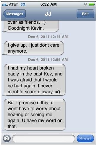 crazy text message series